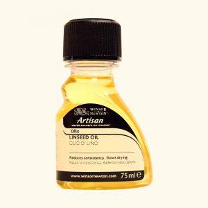 ausiliari pittura olio ad acqua olio di lino 75 ml artisan