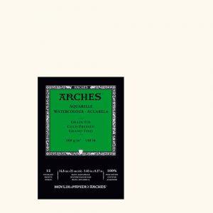 blocco-acquerello arches grana fina 12 fogli A5