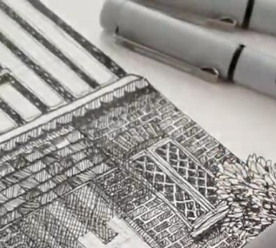 china fineliner arte winsor newton tratto grafico